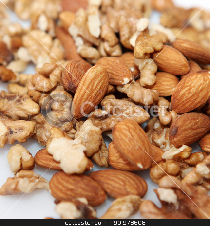 Group of nuts stock photo, Group of nuts. by Nenov Brothers Images