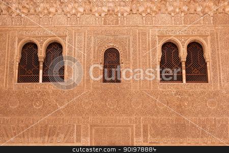 facade details stock photo, facade details in La Alhambra palace, in granada (spain) by Camilo