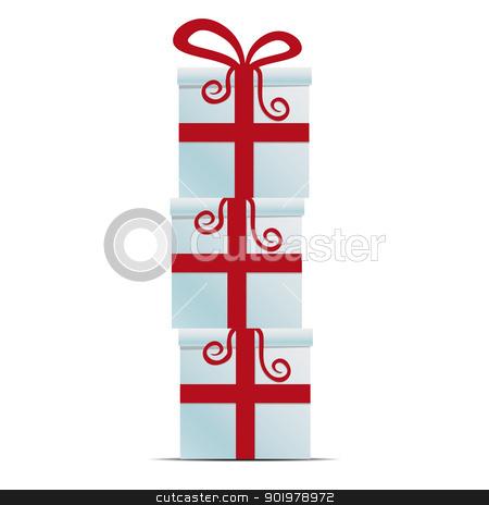 red white gift box stack stock photo, merry christmas red white gift box stack by d3images