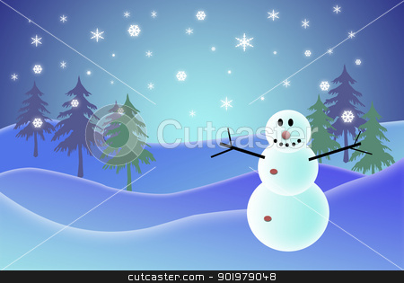 snowman stock photo, ilustration of a snowman, related with christmas subject by Camilo