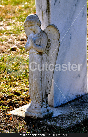 Gravesite - Angel - Shadow stock photo, Gravesite - Angel - Shadow by Liane Harrold