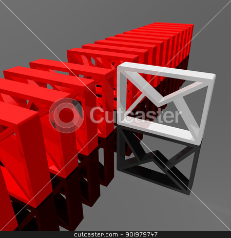 E-mail concept stock photo, 3d image of Symbol or icon email concept by carloscastilla