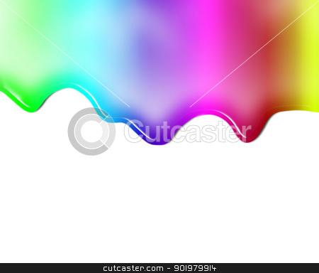 Liquid colored stock photo, Liquid colored background isolated in white by carloscastilla