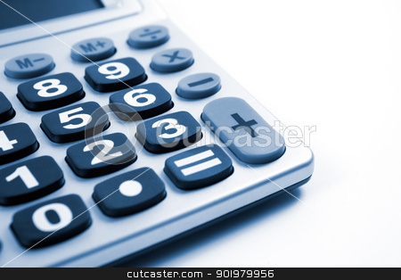 Calculator stock photo, Close up image of Calculator isolated in white by carloscastilla