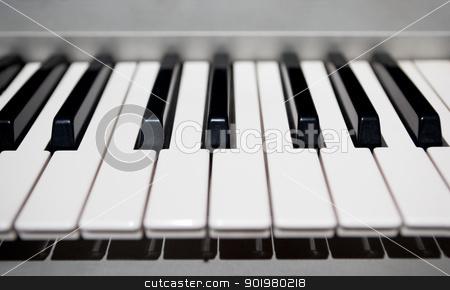 Piano stock photo, Close up image of piano's keys by carloscastilla