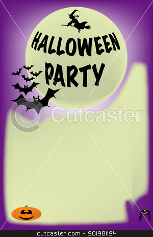 Halloween Party Poster Stock Vector