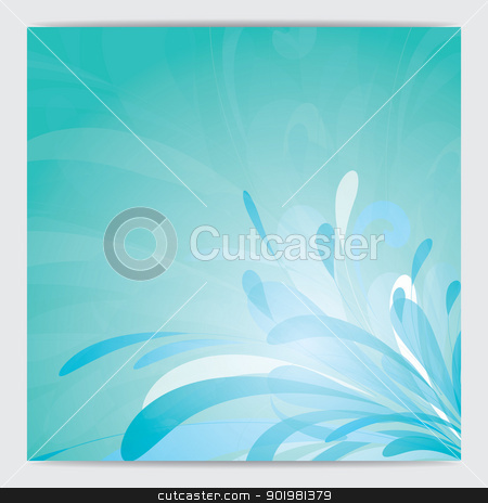 splashes of green stock photo, Splashes of green liquid from corner. Vector illustration. by Kotkoa