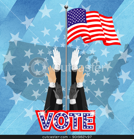 All american people vote for pressident stock photo, Electronic voting (also known as e-voting) is a term encompassing several different types of voting, embracing both electronic means of casting a vote and electronic means of counting votes. by Sailom