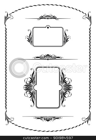 vintage ornament vector pattern stock photo, Vintage ornament in style of national tradition. Vector illustration. by Kotkoa