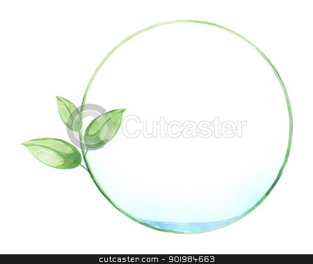 green leaf circle painting stock photo, An image of a green nature circle painting by Markus Gann