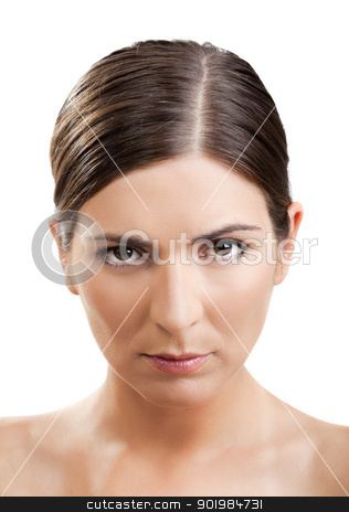 Upset woman stock photo, Portrait of a beautiful woman with a upset expression by ikostudio