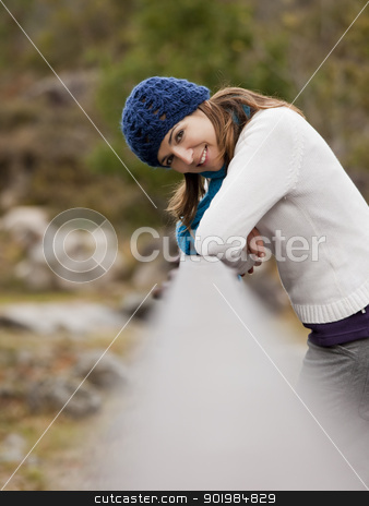 Enjoy the nature stock photo, Outdoor portrait of a beautiful young woman by ikostudio