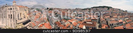 Lisbon stock photo, panarama of Lisbon, capital of the Portugal by Bonzami Emmanuelle