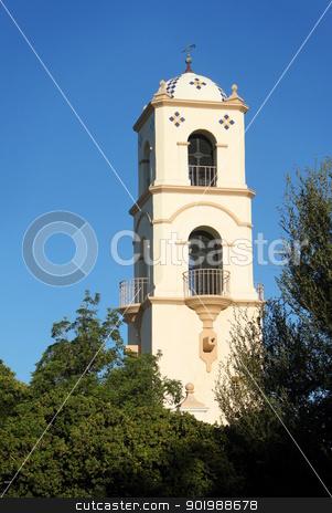 Ojai Post Office Tower stock photo, Landmark in Ojai California the post office tower by Henrik Lehnerer