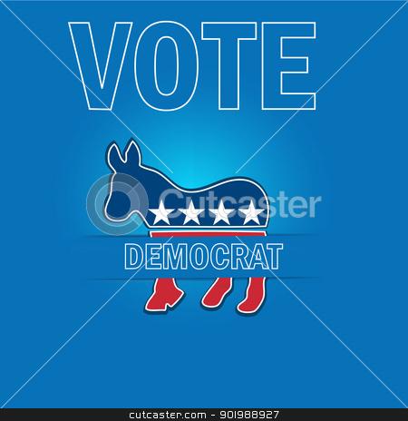 American Voting Campaign Democrat Applique Vector Background. stock vector clipart, American Voting Campaign Democrat Applique Vector Background. by Erdem