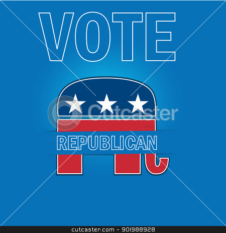 American Voting Campaign Republican Applique Vector Background. stock vector clipart, American Voting Campaign Republican Applique Vector Background. by Erdem
