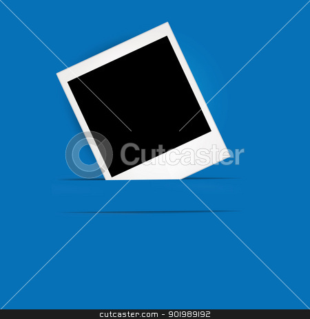 Photo Frame on the Blue Background stock vector clipart, Photo Frame on the Blue Background by Erdem
