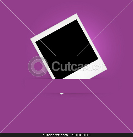Photo Frame on the Purple Background stock vector clipart, Photo Frame on the Purple Background by Erdem