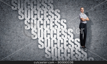 Career Growth stock photo, Image of confident business preson with awaiting career growth by Sergey Nivens