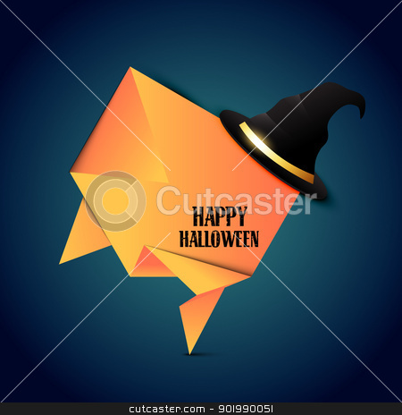vector halloween hat stock vector clipart, vector halloween hat with space for your text by pinnacleanimates