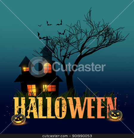 halloween background stock vector clipart, halloween vector design illustration art by pinnacleanimates