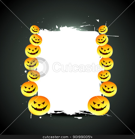 vector halloween design stock vector clipart, halloween design with space for your text by pinnacleanimates
