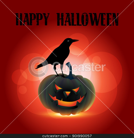 scary halloween design stock vector clipart, scary halloween vector design illustration by pinnacleanimates