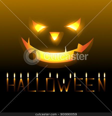 halloween vector stock vector clipart, vector scary happy halloween design by pinnacleanimates