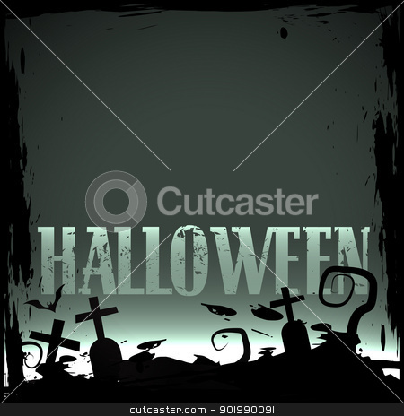halloween background stock vector clipart, vector scary halloween background design by pinnacleanimates