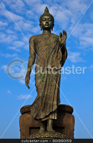Principle buddha in Buddhamonthon.  stock photo, Huge principle buddha in Buddhamonthon, Thailand. by CameraCantabile