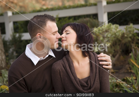 Attractive Couple Portrait in Park stock photo, Attractive Couple Portrait in the Park. by Andy Dean