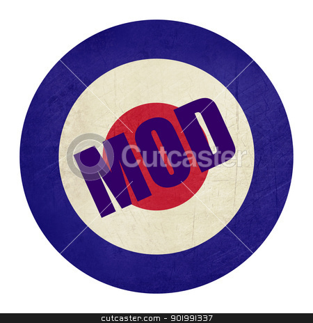Abstrat grunge Mod music symbol stock photo, Abstrt grunge British Royal Air Force roundel, also used as symbol of mod music. by Martin Crowdy