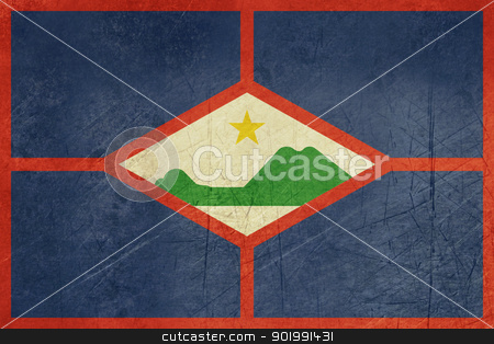 Gringe Sint Eustatius Flag stock photo, Gringe sovereign state flag of dependent country of Sint Eustatius in official colors.  by Martin Crowdy