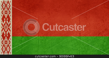 Grunge Belarus Flag stock photo, Grunge sovereign state flag of country of Belarus in official colors. by Martin Crowdy
