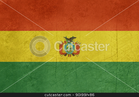 Grunge Bolivia Flag stock photo, Grunge sovereign state flag of country of Bolivia in official colors. by Martin Crowdy