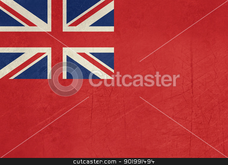 Grunge British Merchent Navy Ensign stock photo, Grunge British Merchent Navy Ensign for civilian fleet by Martin Crowdy