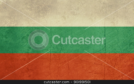 Grunge Bulgaria Flag stock photo, Grunge sovereign state flag of country of Bulgaria in official colors. by Martin Crowdy
