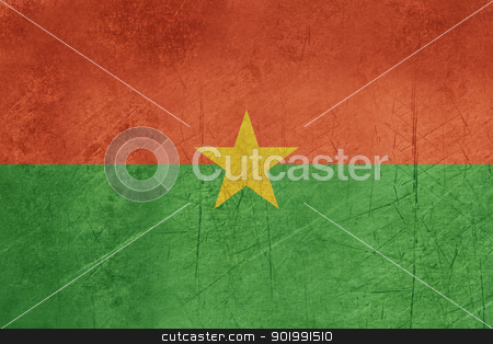 Grunge Burkina Faso stock photo, Grunge sovereign state flag of country of Burkina Faso in official colors. by Martin Crowdy