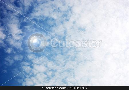 Sunny sky background stock photo, Sunny sky background. by Nenov Brothers Images