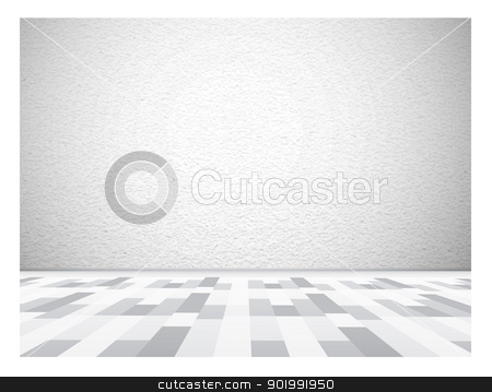 Empty gallery wall for images and advertisement stock photo, Empty gallery wall for images and advertisement. Vector illustration by sermax55