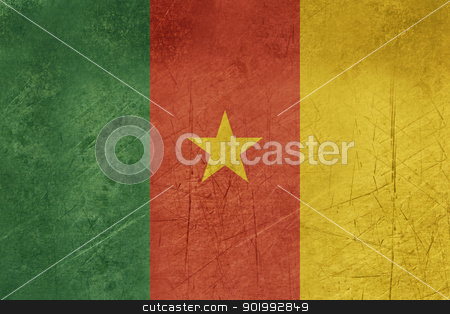 Grunge Cameroon Flag stock photo, Grunge sovereign state flag of country of Cameroon in official colors. by Martin Crowdy