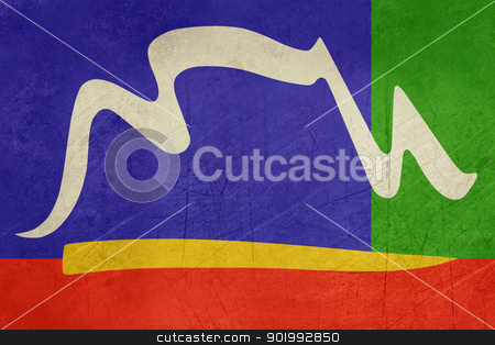 Grunge Cape town city flag stock photo, Grunge Official flag of the city of Cape Town; South Africa. by Martin Crowdy