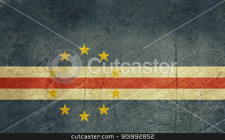 Grunge Cape Verde flag stock photo, Grunge Sovereign state flag of country of Cape Verde in official colors. by Martin Crowdy