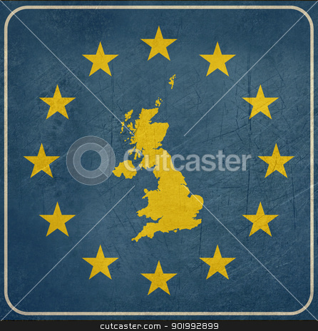 Grunge England European road sign stock photo, Grunge England or United Kingdom European button isolated on white background with copy space.  by Martin Crowdy