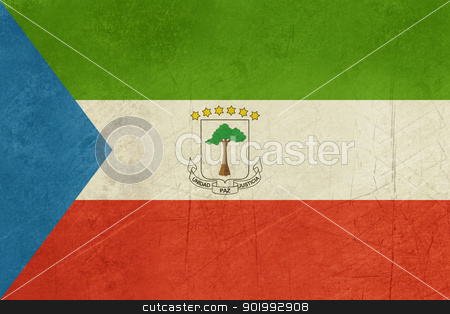 Grunge Equatorial Guinea stock photo, Grunge sovereign state flag of country of Equatorial Guinea in official colors. by Martin Crowdy