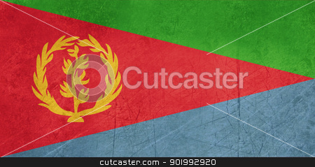 Grunge Eritrea flag stock photo, Grunge sovereign state flag of country of Eritrea in official colors. by Martin Crowdy