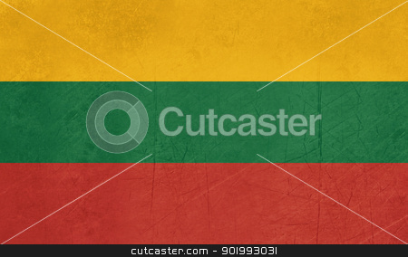 Grunge Lithuania Flag stock photo, Grunge Sovereign state flag of country of Lithuania in official colors. by Martin Crowdy