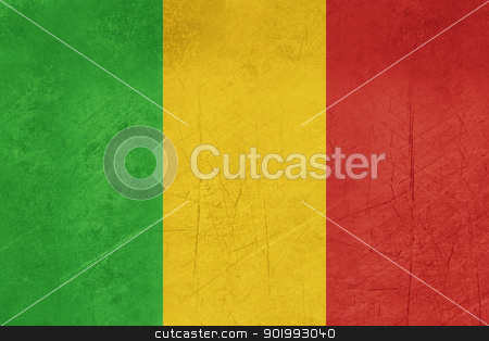 Grunge Mali Flag stock photo, Grunge sovereign state flag of country of Mali in official colors. by Martin Crowdy