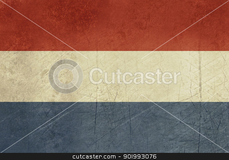Grunge Netherlands Flag stock photo, Grunge sovereign state flag of country of Netherlands in official colors. by Martin Crowdy