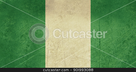 Grunge Nigeria Flag stock photo, Grunge sovereign state flag of country of Nigeria in official colors. by Martin Crowdy